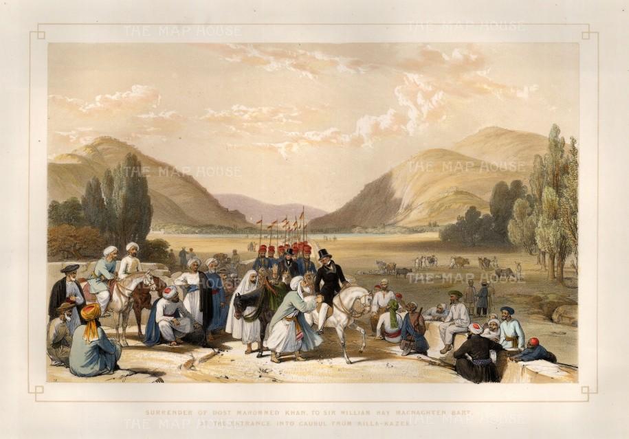 Atkinson: Kabul. 1842. A hand-coloured original antique lithograph. 17 x 12 inches. [AFGp114]