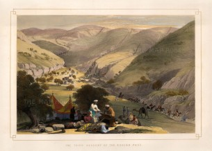 Atkinson: Khojak Pass, between Quetta and Kandahar. 1842. A hand-coloured original antique lithograph. 17 x 12 inches [AFGp132]
