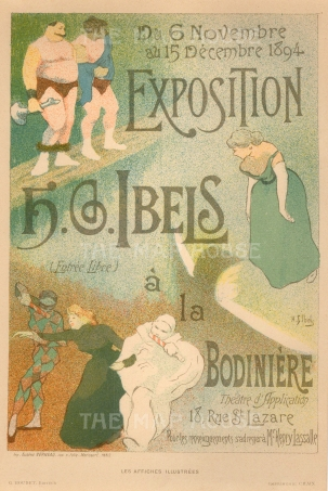 Henri-Gabriel Ibels: Poster for the artist's expostion at la Bodiniere. Ibels was a member of Les Nabis (The Prophets), an influential group of Avant Garde artists.