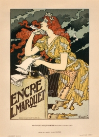Marquet Ink: Advertisement designed by Eugene Grasset. Known as the Father of Art Nouveau, Grasset's 'Maidens' became emblematic of the style.