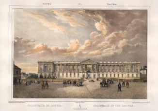 "Benoist: The Louvre, Paris. c1850. A hand coloured original antique lithograph. 18""x 12"". [FRp1507]"