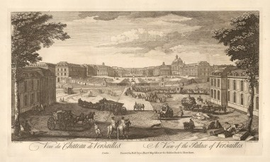 "Sayer: Versailles. 1774. An original antique copper engraving. 12"" x 18"". [FRp1565]"