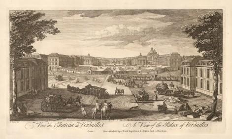 "Sayer: Versailles. 1774. An original antique copper engraving. 12"" x 18"". [FRp1565]"
