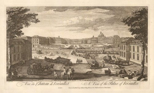 Sayer: Versailles. 1774. An original antique copper engraving. 12 x 18 inches. [FRp1565]