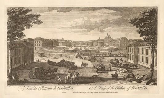 "Sayer: Versailles. 1774. An original antique copper engraving. 18"" x 10"". [FRp1565]"