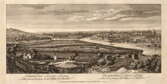 Sayer: Paris. 1774. An original antique copper-engraving. 20 x 10 inches. [FRp1569]