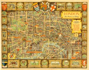 """Lee: London, the Bastion of Liberty. 1947. An original vintage chromo-lithograph. 50"""" x 40"""". [POSTERp104]"""