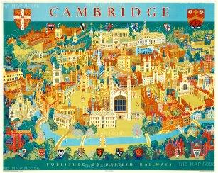 """Lee: Cambridge. 1955. An original vintage chromo-lithograph. 50"""" x 40"""". [POSTERp106]"""