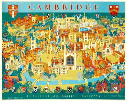 "Lee: Cambridge. 1955. An original vintage chromolithograph. 50"" x 40"". [POSTERp106]"