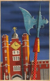 "SOLD. Lewis: St. James's Palace. 1953. An original vintage chromo-lithograph. 24"" x 30"". [POSTERp206]"