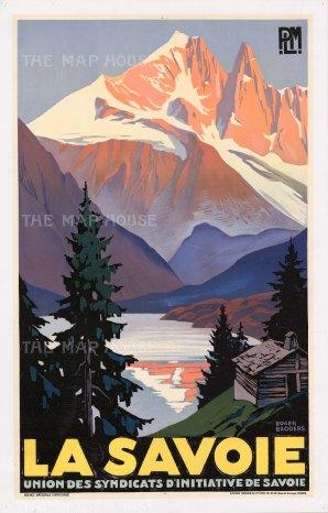 """Broders: La Savoie. c.1930. An original vintage chromo-lithograph. 24"""" x 39"""". [POSTERp240]"""
