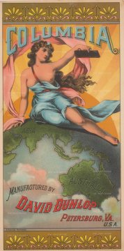 "Hoen & Co: Columbia. 1893. An original vintage chromolithograph. ""7 x 13"". [POSTERp280]"