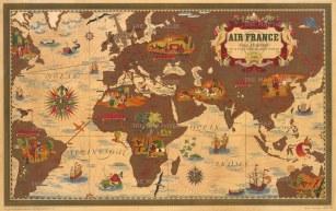 "Boucher: Air France, Nova et Vetera. 1939. An original vintage chromo-lithograph. 38"" x 24"" [WLD4241]"