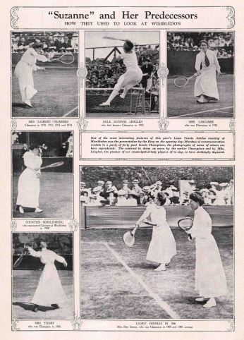 The Graphic Magazine: Ladies Tennis at Wimbledon. Antique photolithograph, 9 x 13 inches. [SPORTSp3426]