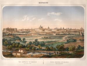 """Deroy: Madrid. c1840. An original colour antique lithograph. 20"""" x 16"""". [SPp916]"""