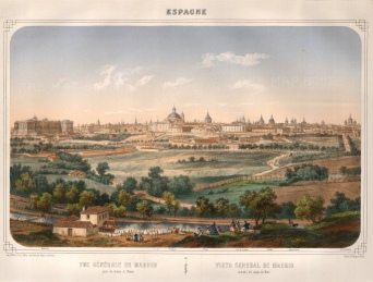 "Turgis, 'Madrid', c.1840. An original colour lithograph. 16"" x 20"". £POA."