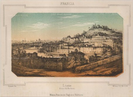 "Pagnori: Lyon. c1840. An original antique chromolithograph. 8"" x 6"". [FRp1444]"