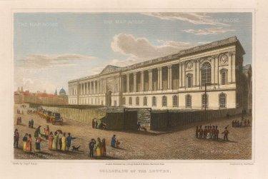 Lieut. Col. Batty: Louvre, Paris. 1821. A hand-coloured original antique steel-engraving. 8 x 5 inches. [FRp1531]