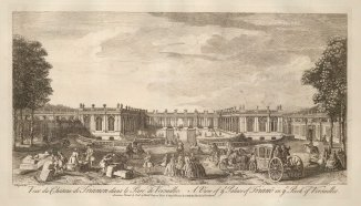 "Sayer: Versailles. 1774. An original antique copper engraving. 18"" x 12"". [FRp1566]"