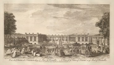 "Sayer: Versailles. 1774. An original antique copper engraving. 18"" x 12"". [FRp1566]"