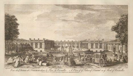 "Sayer: Versailles. 1774. An original antique copper engraving. 18"" x 10"". [FRp1566]"