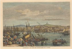 Reclus: Marseilles. 1894. A hand-coloured original antique steel-engraving. 8 x 6 inches. [FRp1588]