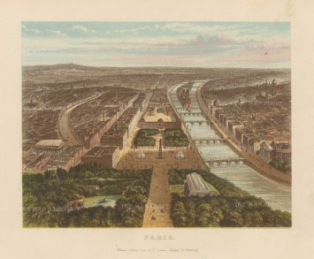 Collins: Paris. Circa 1880. An original antique chromo-lithograph. 9 x 7 inches. [FRp1614]