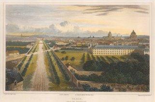 "Lieut. Col. Batty: Paris. c1821. A hand coloured original antique steel engraving. 9"" x 6"". [FRp1616]"