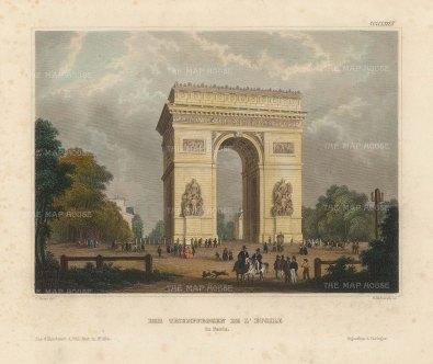 "Meyer: Paris. 1844. A hand coloured original antique steel engraving. 6"" x 5"". [FRp1625]"