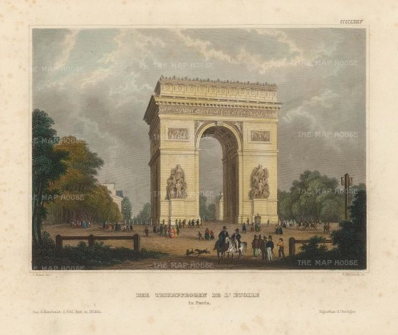 "Meyer: Paris. 1844. A hand coloured original antique steel engraving. 6"" x 5"". [FRp1625]"