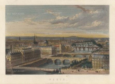 Mackenzie: Paris. Circa 1840. A hand-coloured original antique steel-engraving. 8 x 6 inches. [FRp1634]