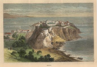 The Illustrated London News: Monaco. 1882. A hand-coloured original antique wood-engraving. 9 x 7 inches. [FRp1636]