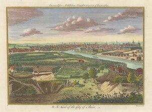 Middleton: Paris. 1778. A hand coloured original antique copper engraving. 12″ x 7″. [FRp1638]