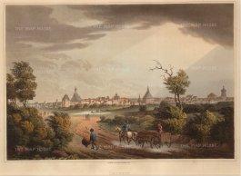 "Bowyer: Leipzig. 1814. An original antique aquatint. 13"" x 10"". [GERp1084]"