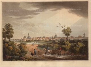 "Bowyer: Leipzig. 1814. An original antique aquatint. 13"" x 10"". [GERp1084]"