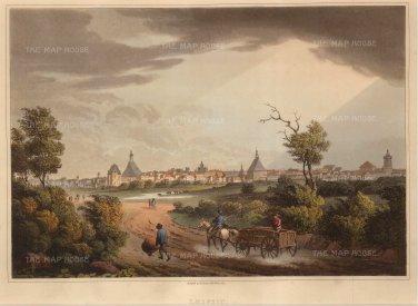 Bowyer: Leipzig. 1814. An original antique aquatint. 13 x 10 inches. [GERp1084]