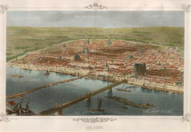 Carse: Cologne. 1850. A hand-coloured original antique wood-engraving. 14 x 10 inches. [GERp1104]