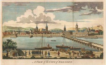 Anon: Dresden. 1760. A hand-coloured original antique copper-engraving. 10 x 6 inches. [GERp1131]