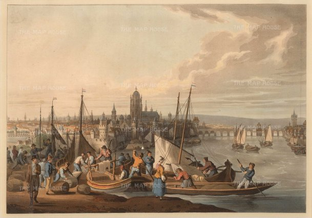 "Bowyer: Frankfurt. c1814. An original colour antique aquatint. 13"" x 10"". [GERp1187]"