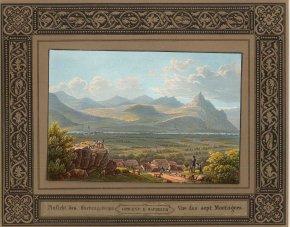 Baedecker: Siebengebirge, Rhine. An original antique colour lithograph. 8 x 6 inches. [GERp1189]