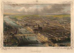 Carse. Frankfurt. Circa 1850. A hand-coloured original antique wood-engraving. 13 x 8 inches. [GERp1219]