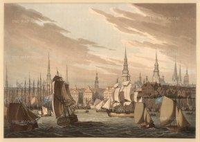 Bowyer: Hamburg. Circa 1814. An original antique aquatint. 13 x 10 inches. [GERp1257]