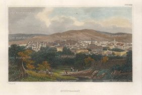 "Meyer: Stuttgart. 1837. A hand coloured original antique steel engraving. 6"" x 4"". [GERp1267]"
