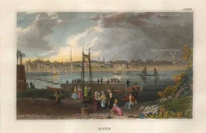 "Meyer: Bonn. 1837. A hand coloured original antique steel engraving. 6"" x 4"". [GERp1268]"