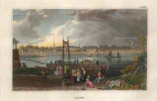 "Meyer: Bonn. 1837. A hand coloured original antique steel engraving. 6"" x 4"". [GERp1268]"