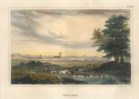 "Meyer: Munich. 1841. A hand coloured original antique steel engraving. 6"" x 4"". [GERp1269]"