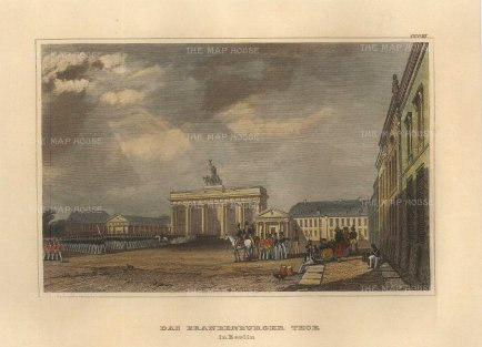 "Meyer: Berlin. 1840. A hand coloured original antique steel engraving. 6"" x 4"". [GERp1270]"