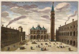 Merian: Venice, c. 1640. Hand coloured antique copper engraving. 13 x 9 inches. [ITp1704]
