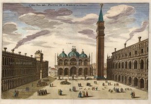 Piazza di San Marco: Looking towards the Basilica.