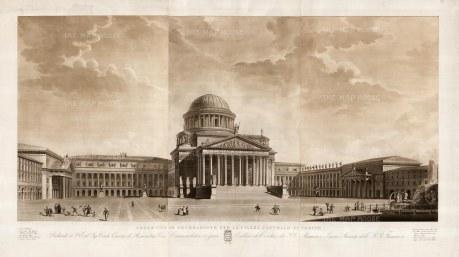 Angeli: Torino, 1831. An original antique aquatint. 54 x 32 inches [ITp2078]